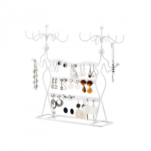 Pratique Design Bijoux Pr/ésentoir Collier Boucle Doreille Bracelet Organisateur Pr/ésentoir Support /à Porte Chambre Bijoux Bijoux Cintre Blanc
