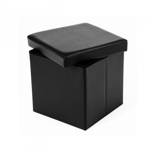 Coffre de rangement lisse 40 L noir