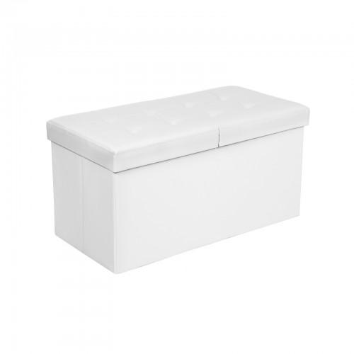 Coffre de rangement 80L blanc