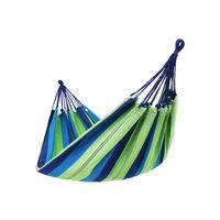 Hamac tissu bleu vert