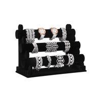 Porte-bracelets velours noir