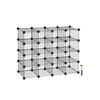 Meuble modulable grille 15 casiers noir