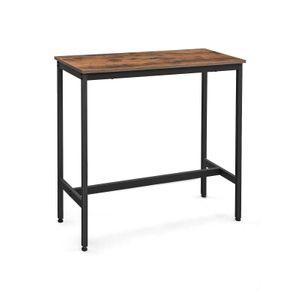 Table de Bar avec Cadre métallique Robuste