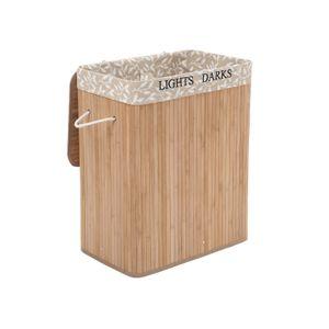 Panier à linge tri à motif bambou