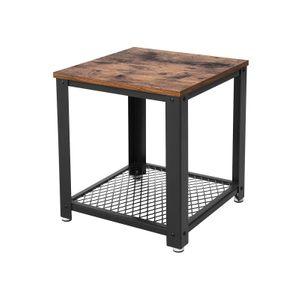 Table d'appoint carrée industriel