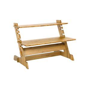 Support bureau assis-debout bambou