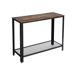 Table console longue industriel