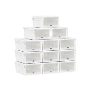 Boîtes à Chaussures en Plastique Blanc