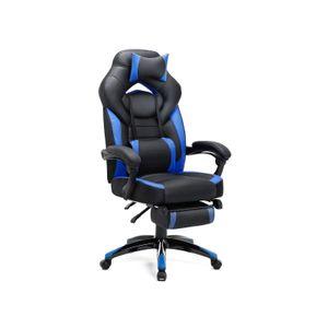 Fauteuil gaming bleu
