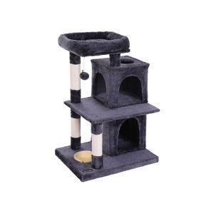 Arbre à chat 90 cm gris foncé