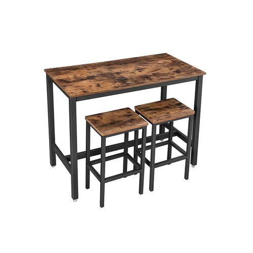 Table haute avec 2 tabourets