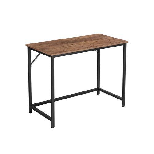 Bureau Table Poste de Travail Marron Noisette et Noir