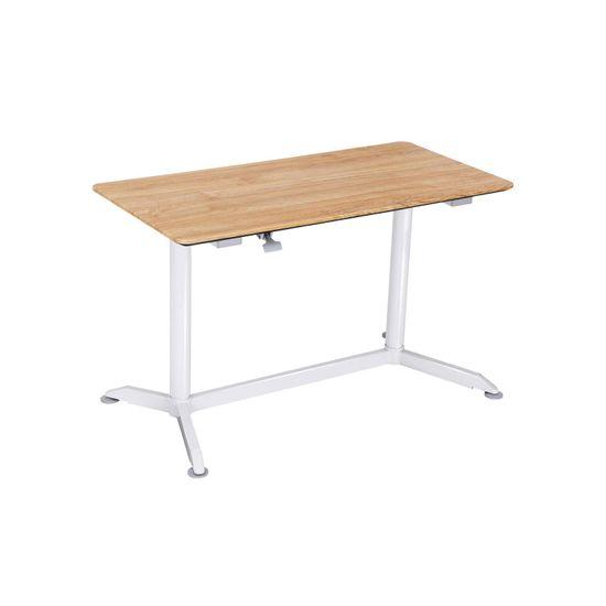 Bureau assis-debout blanc