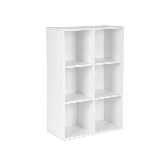 Meuble rangement 6 casiers blanc