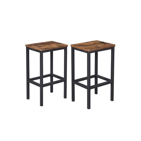Lot de 2 chaises de bar