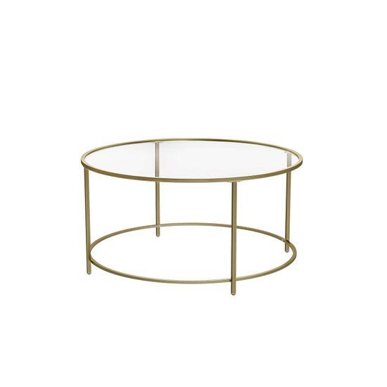 Table basse verre doré
