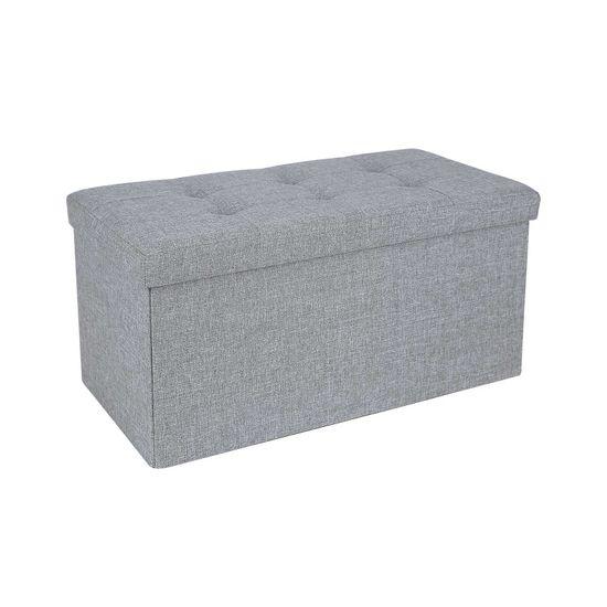 Banc de rangement 50L gris clair