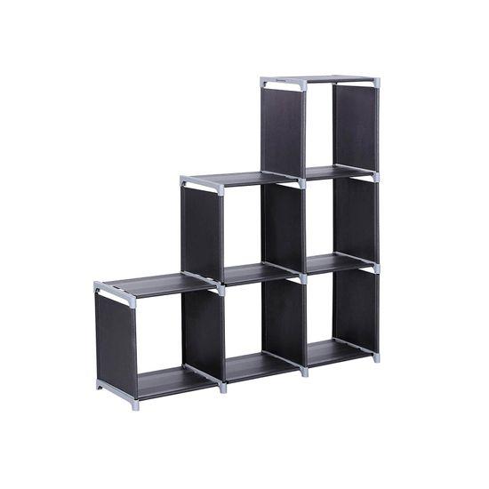 Meuble modulable 6 casiers noir
