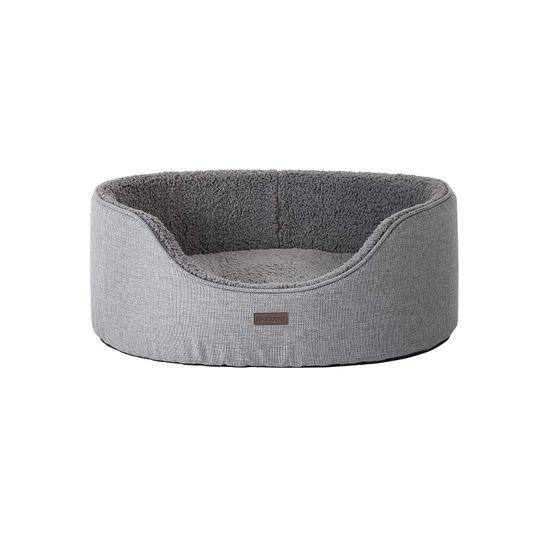 Panier coussin réversible L gris