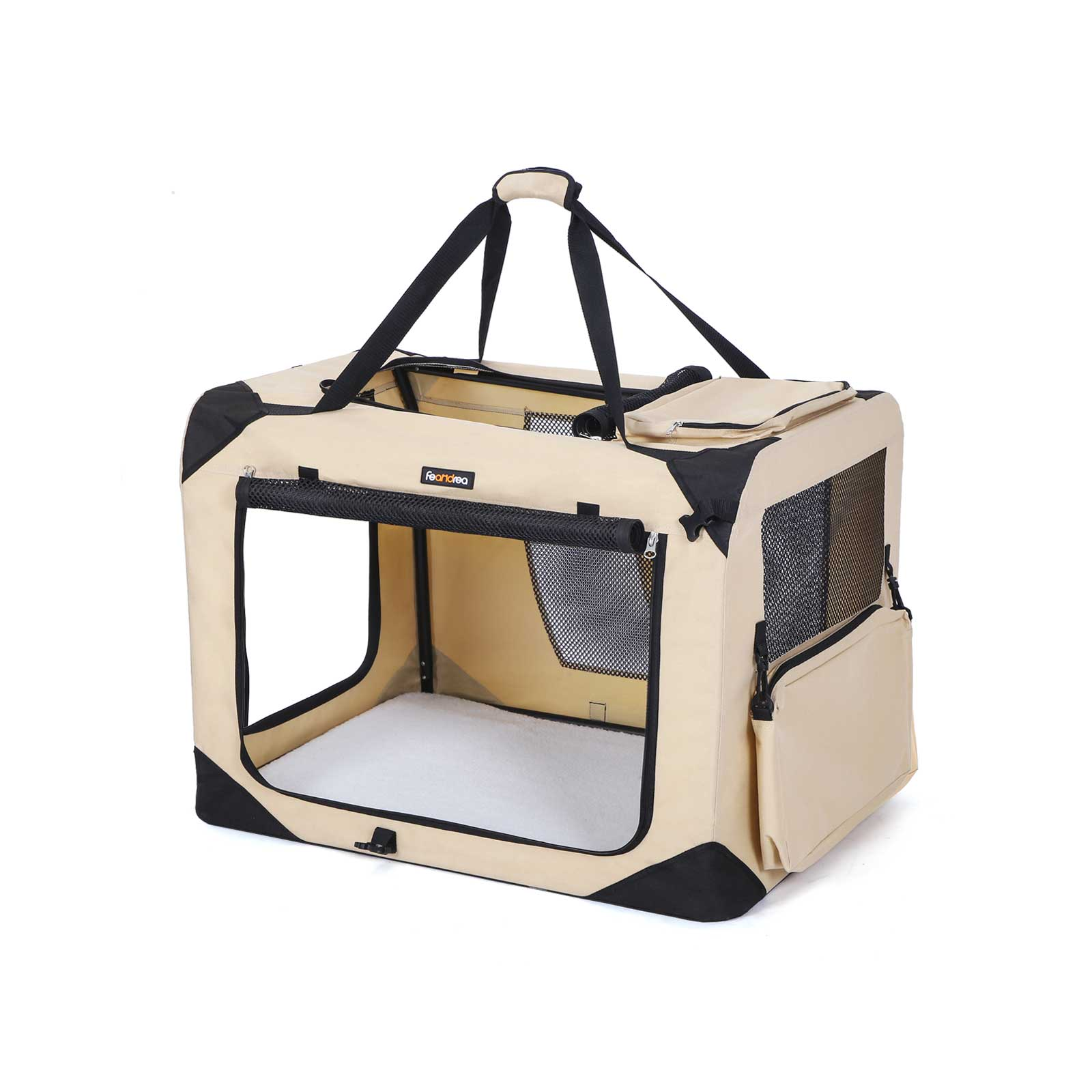 FEANDREA Sac de transport 60 x 40 x 40 cm beige